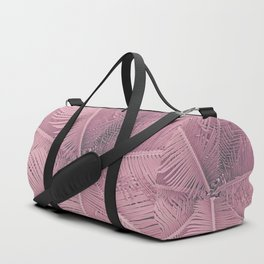 Pink Palm Leaves Duffle Bag