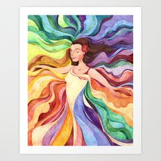 Rainbow Dancer Art Print