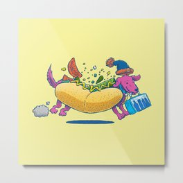 Chicago Dog: Lunch Pail Metal Print
