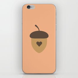 Acorn with heart T-Shirt for Women, Men and Kids iPhone Skin