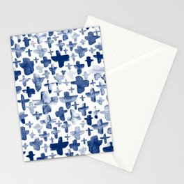 Navy Blue Crosses Stationery Cards