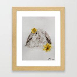 Flower Bunny Framed Art Print