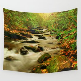 Fall Along Rock Castle Wall Tapestry