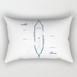 Towers - nyc vs istanbul Rectangular Pillow
