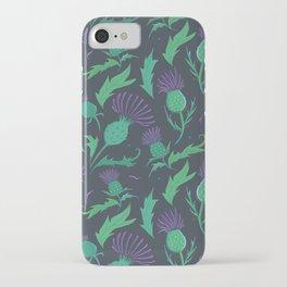 Scottish Thistle Pattern iPhone Case