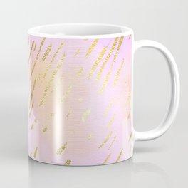 Pastels In Gold Stipes Coffee Mug