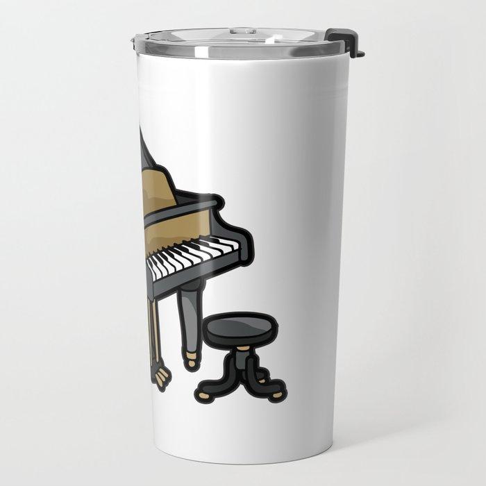 Piano Player Keyboard Organ Chamber Music Symphony Travel Mug