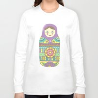 russian Long Sleeve T-shirts featuring Russian Doll by haleyivers
