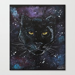 Puma painting on black paper Canvas Print