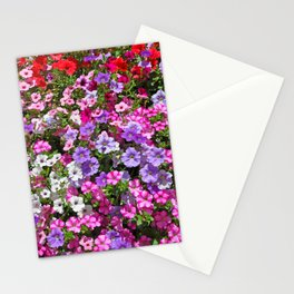 Petunias in bloom Stationery Cards