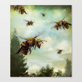 Crown of Bees Canvas Print
