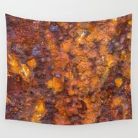 heavy metal Wall Tapestries featuring Heavy Rust by davehare