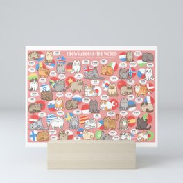 Meows Around The World Mini Art Print