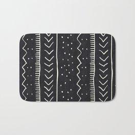 Moroccan Stripe in Black and White Bath Mat