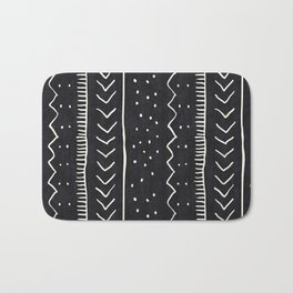 Moroccan Stripe in Black and White Bath Mat