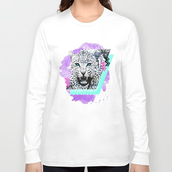 Fierce Leopard Long Sleeve T-shirt