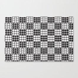 Hob Nob Black White Quarters Canvas Print