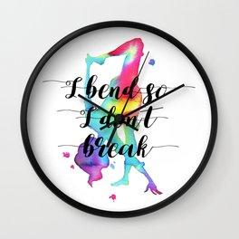 I bend so I don't break Wall Clock