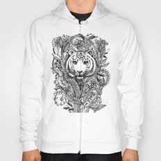 Tiger Tangle in Black and White Hoody