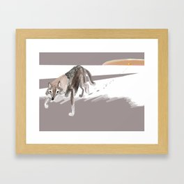 Totem Russian Wolf Framed Art Print