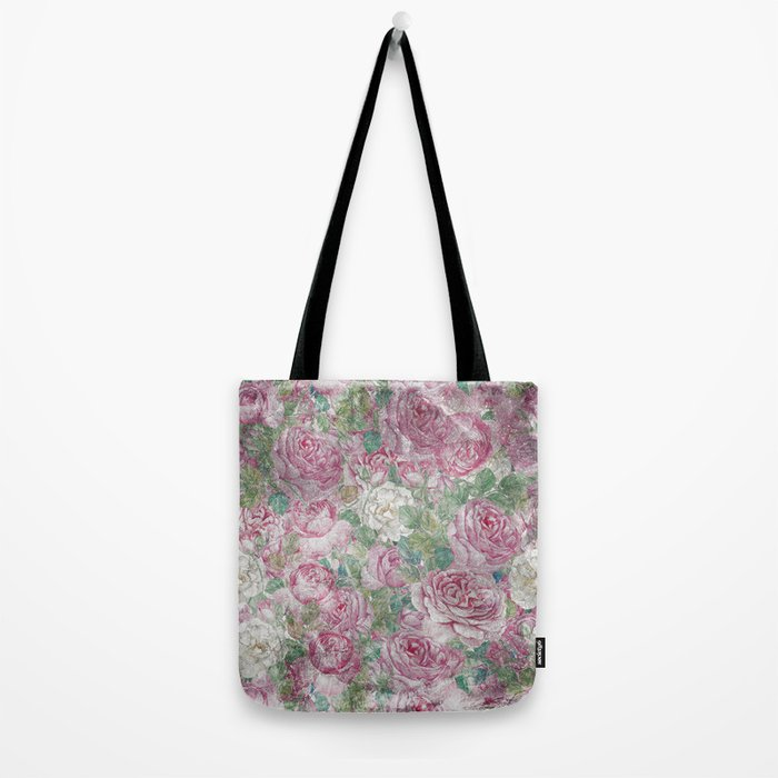 Vintage & Shabby-chic - floral roses flowers rose flower Tote Bag