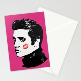 Elvis in the Pink Stationery Cards