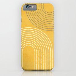 Golden Minimalist Abstract iPhone Case