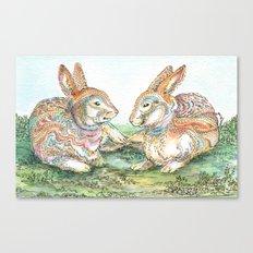 Resting Rabbits Canvas Print