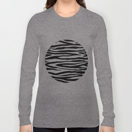 Zebra StripesPattern Black And White Long Sleeve T-shirt