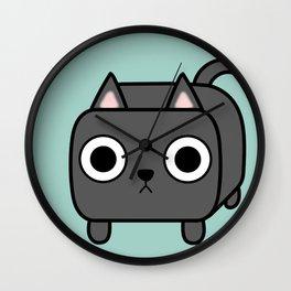 Cat Loaf - Grey Kitty Wall Clock