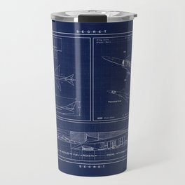 Republic AP 57 Blueprint Schematic Travel Mug