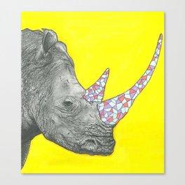Rhino, bru!  Canvas Print
