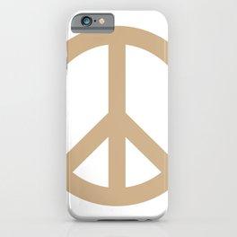 Peace (Tan & White) iPhone Case