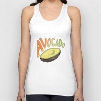 avocado Tank Tops featuring Avocado by Ken Coleman