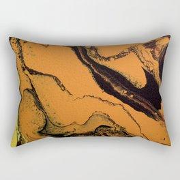 Dirty Acrylic Pour Painting 07, Fluid Art Reproduction Abstract Artwork Rectangular Pillow