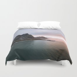 Iceland Mountain Beach Sunrise - Landscape Photography Duvet Cover