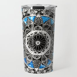 Blue Tiedye Mandala Travel Mug