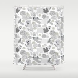 Hipster otters Shower Curtain