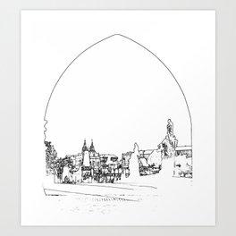 Charles bridge in Prague Art Print