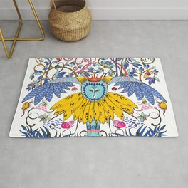 Owl Kingdom in white Rug