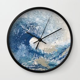 The Great Wave Abstract Ocean Wall Clock