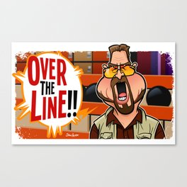 Over the Line Canvas Print