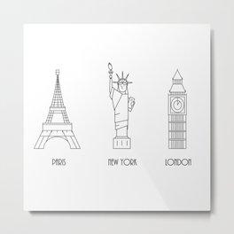 Three Cities Metal Print