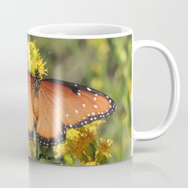 Queen Butterfly on Rubber Rabbitbrush in Claremont CA Coffee Mug