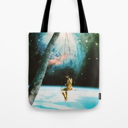 Hanging Out In Space Tote Bag