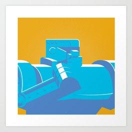 Blue Bomber Art Print