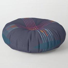 Multicolor Cross Floor Pillow