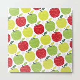 Apples Pattern Metal Print