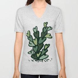 anti valentines cactus Unisex V-Neck