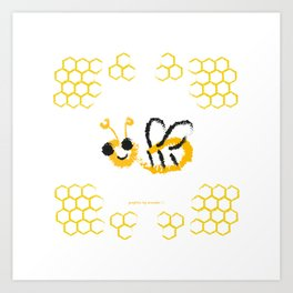Happy bee Art Print